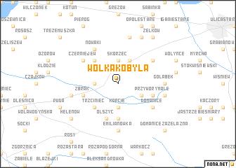 map of Wólka Kobyla