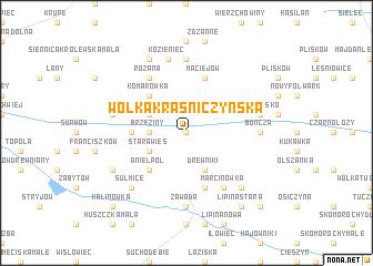 map of Wólka Kraśniczyńska