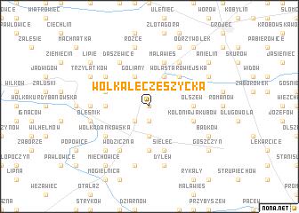 map of Wólka Łęczeszycka