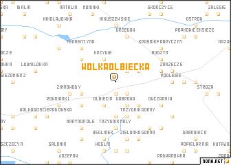 map of Wólka Olbięcka