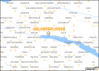 map of Wólka Paplińska