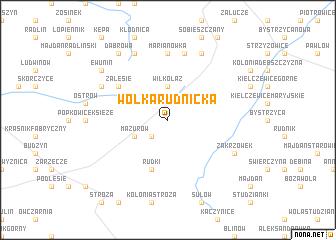 map of Wólka Rudnicka