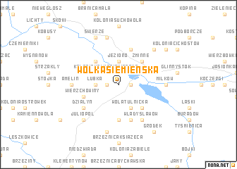 map of Wólka Siemieńska