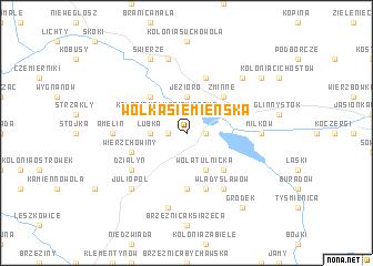 map of Wólka Siemieńska