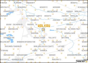 map of Wölkau