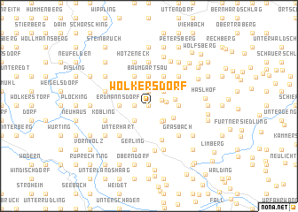 map of Wolkersdorf