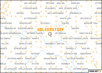 map of Wolkerstorf