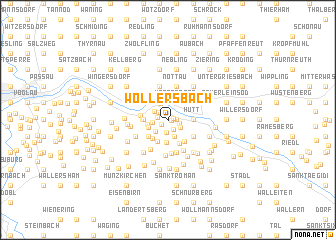map of Wollersbach