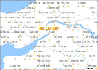 map of Wollersum