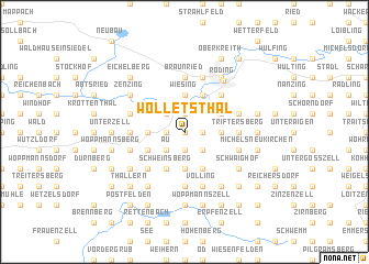 map of Wolletsthal