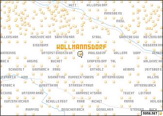 map of Wollmannsdorf