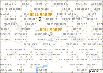 map of Wöllsdorf