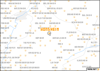 map of Wonsheim