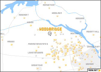 map of Woodbridge