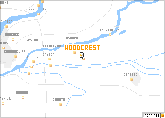 map of Woodcrest