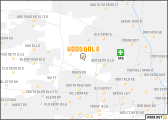 map of Wood Dale