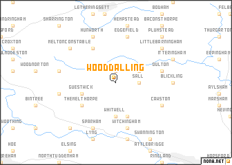 map of Wood Dalling