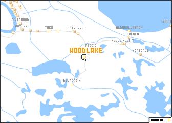map of Wood Lake