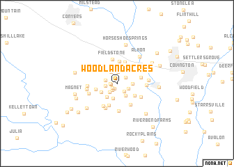 map of Woodland Acres