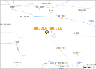 map of Woodland Hills