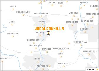 map of Woodland Hills