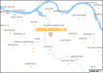 map of Woodland Mills