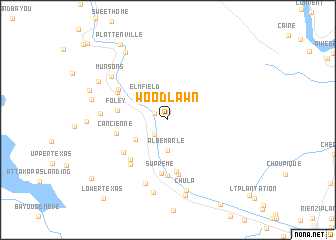 map of Woodlawn