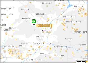 map of Woodmere