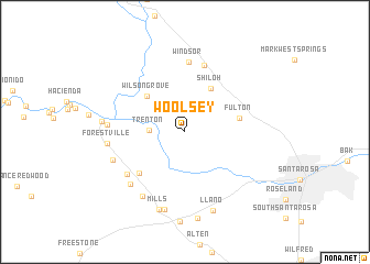 map of Woolsey