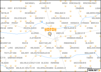 map of Worów