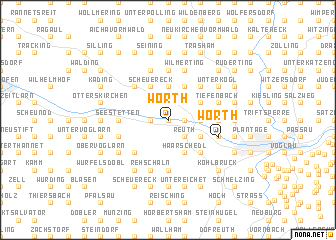 map of Wörth
