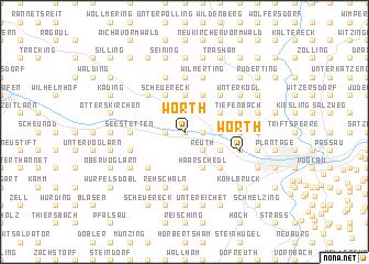 map of Wörth