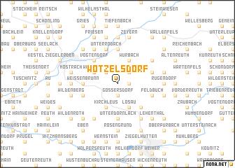 map of Wötzelsdorf