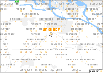 map of Woxdorf
