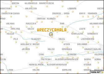 map of Wręczyca Mała