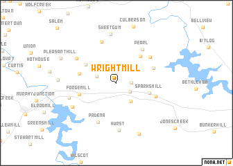 map of Wright Mill
