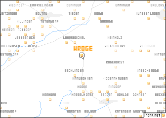 map of Wroge