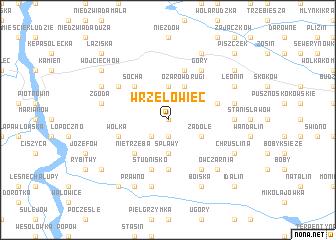map of Wrzelowiec