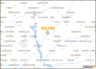 map of Wulkow