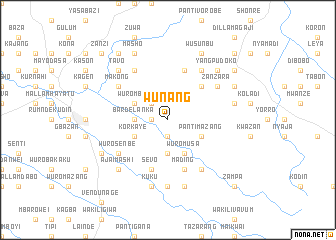 map of Wunang
