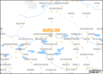 map of Wunscha