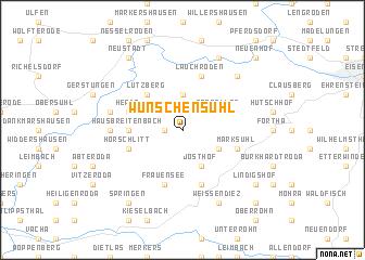 map of Wünschensuhl