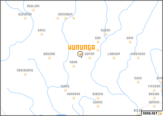 map of Wununga