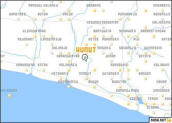 map of Wunut
