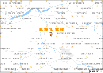 map of Würenlingen