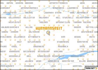 map of Wurmannsreit