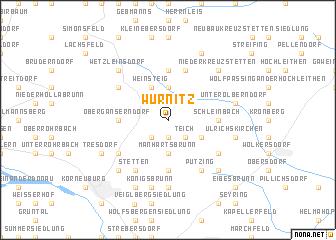 map of Würnitz