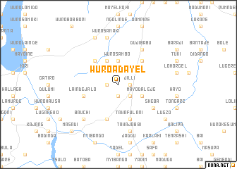 map of Wuro Adayel