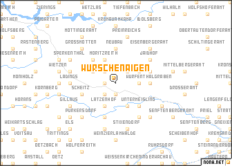 map of Wurschenaigen