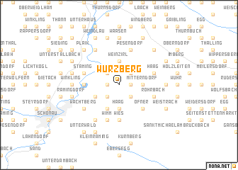 map of Würzberg